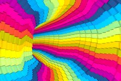 Colorful abstract background with tube. 3D illustration stock illustration