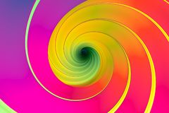 Colorful abstract background. With twist 3d illustration Royalty Free Stock Photography