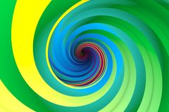 Colorful abstract background. With twist 3d illustration Stock Photography
