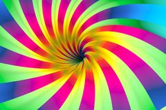 Colorful abstract background. With twist 3d illustration Royalty Free Stock Photo