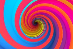 Colorful abstract background twist. Colorful abstract background with twist 3d illustration Stock Image