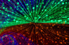 Colorful abstract background, using motion blur from tunnel ligh Stock Photography