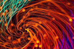Colorful abstract background, using motion blur from tunnel ligh Royalty Free Stock Images