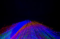 Colorful abstract background, using motion blur from tunnel light Stock Images