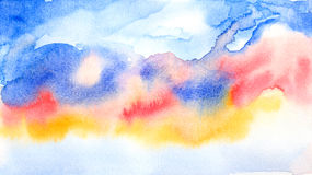 Colorful abstract  background ' watercolor painted Royalty Free Stock Photo