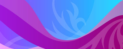 Colorful abstract background with waves and ornaments for website, banners or identity. Colorful purple and blue abstract background with waves and ornaments Stock Photos