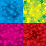 Colorful abstract backgrounds set with rectangles. Set of colorful abstract backgrounds with orange rectangles (geometrical). Different figures (yellow, orange Royalty Free Stock Photography