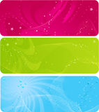 Colorful abstract banners with stars Royalty Free Stock Photo