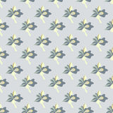 Colorful abstract beautiful flowers on gray background seamless pattern Stock Photos