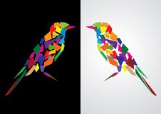 Colorful abstract bird stock illustration