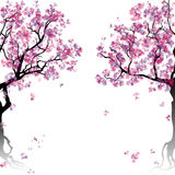 Colorful abstract blooming trees Royalty Free Stock Photos