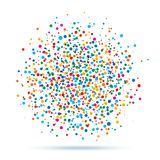 Colorful abstract blot of dots. Vector illustration Stock Photography
