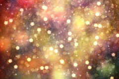 Colorful abstract blurred Christmas bokeh copy space background Royalty Free Stock Photography