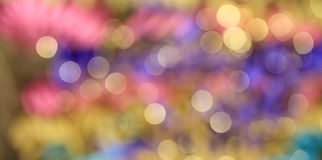 Colorful abstract blurred circle bokeh light background Stock Images
