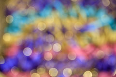 Colorful abstract blurred circle bokeh light background Stock Photography