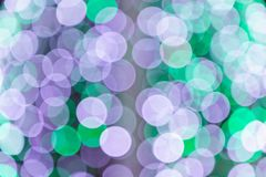 Colorful abstract blurred circular bokeh light of night city street for background. graphic design and website template. Idea concept design Royalty Free Stock Images