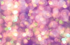 Colorful abstract bokeh background, purple color Royalty Free Stock Image