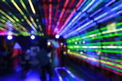 Colorful  Abstract  bokeh blur background. Abstract bokeh of citylife of Bangkok night background with motion blur Stock Images