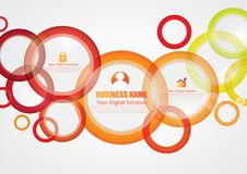 Colorful abstract  brochure design Stock Photos