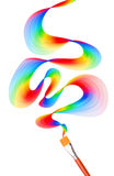 Colorful abstract brush background Stock Image