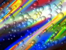 Colorful Abstract Bubbles. A graphical picture of abstract and colorful bubbles Stock Images