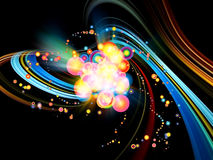 Colorful Abstract Burst Royalty Free Stock Photo