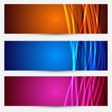 Colorful abstract cards collection Royalty Free Stock Photos