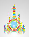 Colorful abstract castle Stock Photography