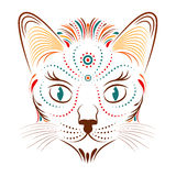 Colorful abstract cat head Royalty Free Stock Images