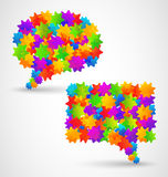 Colorful abstract chat bubbles Royalty Free Stock Photography