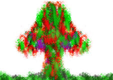 Colorful abstract Christmas paint  tree Royalty Free Stock Images