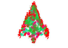 Colorful abstract Christmas paint  tree Stock Photos