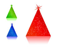 Colorful abstract christmas tree Stock Photo