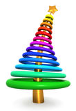 Colorful abstract christmas tree. 3d illustration Stock Image