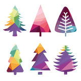 Colorful abstract Christmas trees Royalty Free Stock Image