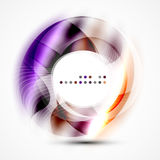 Colorful abstract circle banner. Vector message presentation template Royalty Free Stock Photo