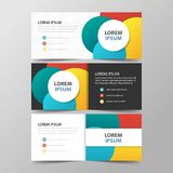 Colorful abstract circle corporate business banner template, horizontal advertising business banner layout template Stock Photos