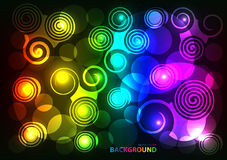 Colorful Abstract Circle modern hi-tech glowing background Royalty Free Stock Image