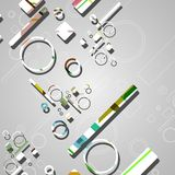 Colorful abstract circles background Stock Photo