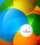 Colorful abstract circles design template.  Royalty Free Stock Photos