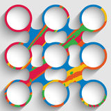 Colorful abstract circular object Stock Photography