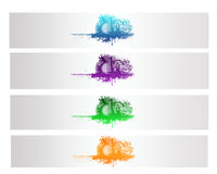 Colorful Abstract City Vector Banner. And Backround Royalty Free Stock Photo