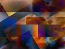 Colorful abstract clouds. Colorful clouds with overlapping rectangular layers vector illustration