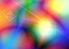 Colorful Abstract. Background with geometric shapes. 3D rendering Royalty Free Stock Photos