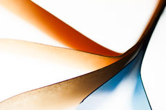 Colorful abstract composition with paper Stock Image