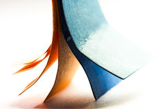 Colorful abstract composition with paper Stock Photography
