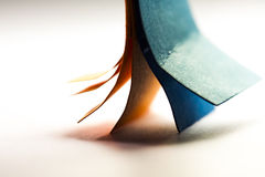 Colorful abstract composition with paper Royalty Free Stock Photo