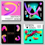 Colorful abstract covers design templates. Modern trendy style with vibrant gradinets shapes and fluid colors Stock Photos