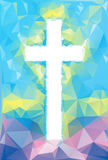 Colorful abstract Cross Royalty Free Stock Photo
