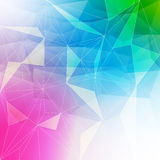Colorful abstract crystal background Stock Images